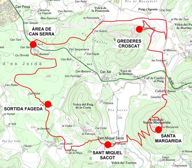 Mapa de l'excursió